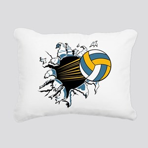 Volley Ball Burst Rectangular Canvas Pillow