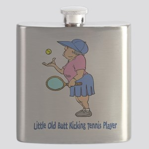Butt Kicking Tennis Player Flask