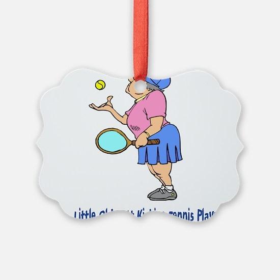 Butt Kicking Tennis Player Ornament