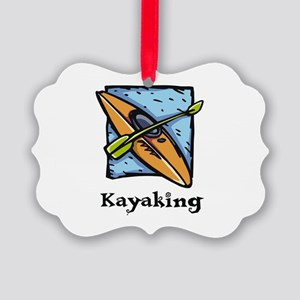 Kayaking Picture Ornament
