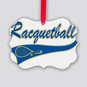 Racquetball Picture Ornament