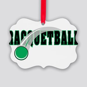 Racquetball 2 Picture Ornament