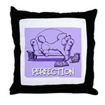Purple Poodle Throw Pillow
