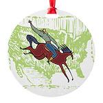American Cowboy Round Ornament