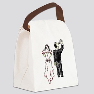 Drunken Groom Transparent Canvas Lunch Bag