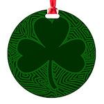 cloverscribble2 Round Ornament