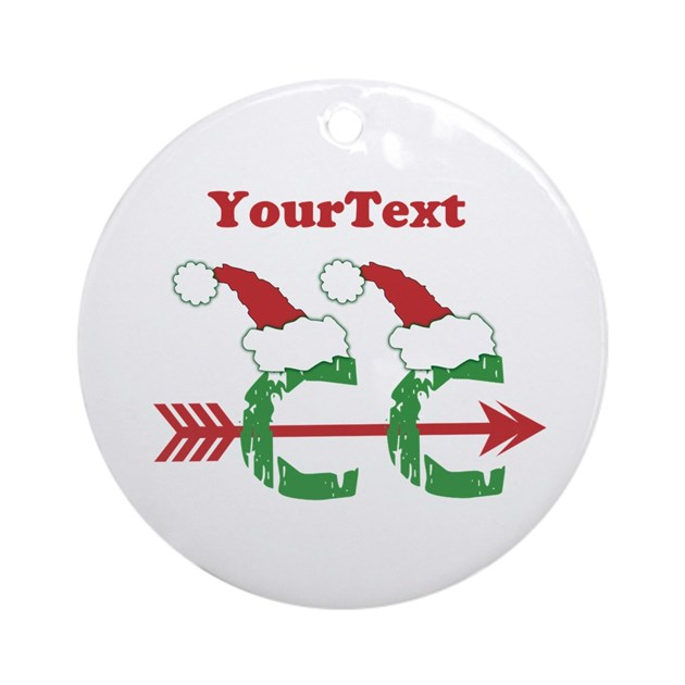 - Customize Cross Country Xmas Ornament (Round) By Biskerville