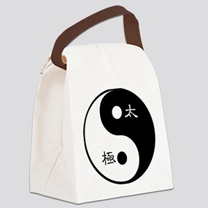 Tai Chi Yin Yang Symbol Canvas Lunch Bag