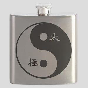 Tai Chi Yin Yang Symbol Flask