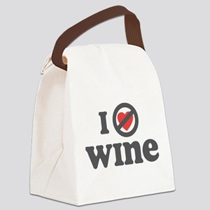 I Dont Heart wine Canvas Lunch Bag