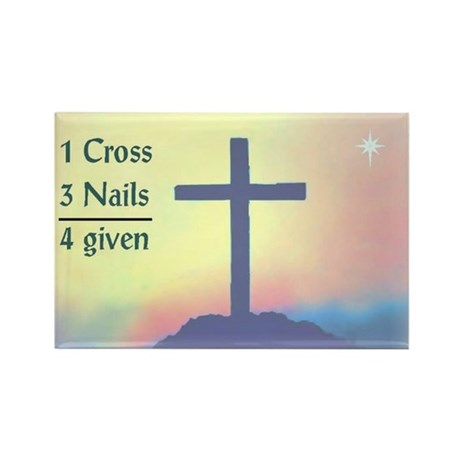 1 cross  3 nails  4 given rectangle magnet by christianlaughs