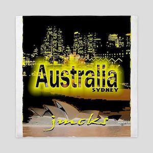 sydney australia art illustration Queen Duvet