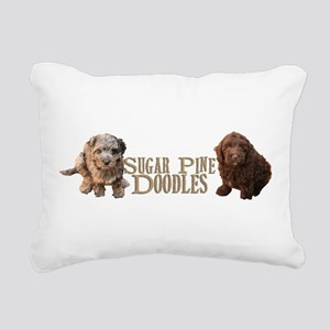 Sugar Pine Doodles Rectangular Canvas Pillow