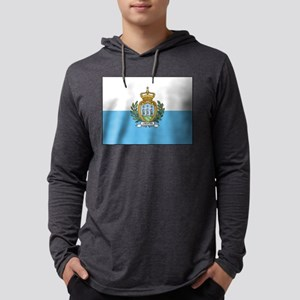 San Marino - National Flag - Current Mens Hooded S