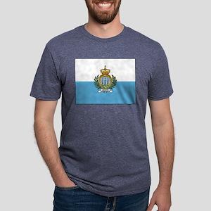 San Marino - National Flag - Current Mens Tri-blen