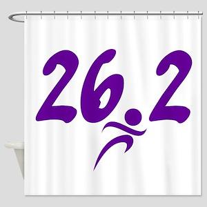 Purple 26.2 marathon Shower Curtain