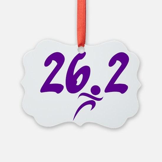 Purple 26.2 marathon Ornament