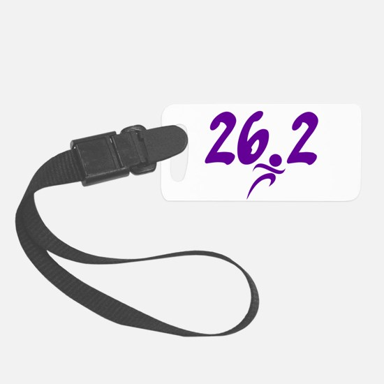Purple 26.2 marathon Luggage Tag