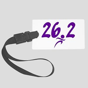 Purple 26.2 marathon Large Luggage Tag