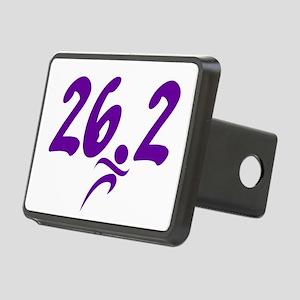 Purple 26.2 marathon Rectangular Hitch Cover
