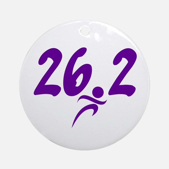 Purple 26.2 marathon Ornament (Round)