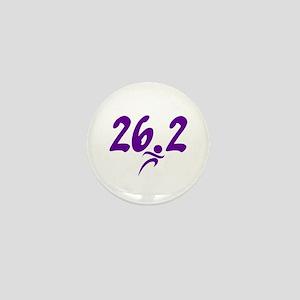 Purple 26.2 marathon Mini Button