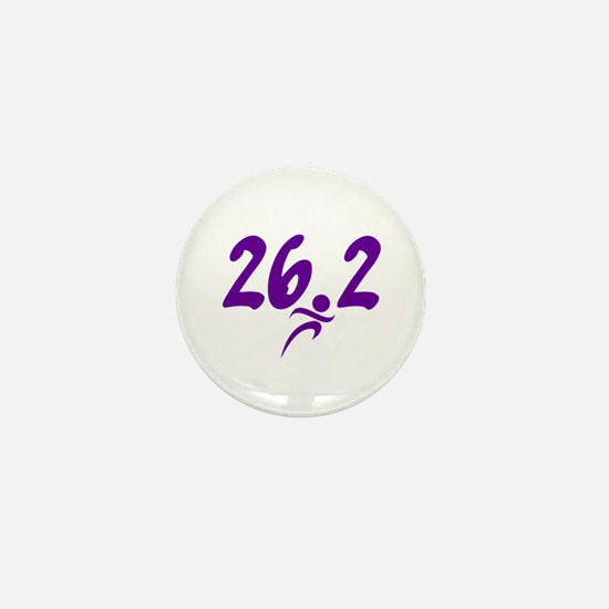Purple 26.2 marathon Mini Button