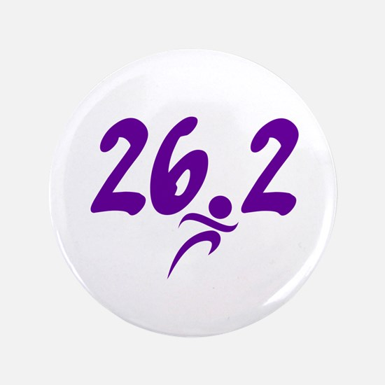 "Purple 26.2 marathon 3.5"" Button (100 pack)"