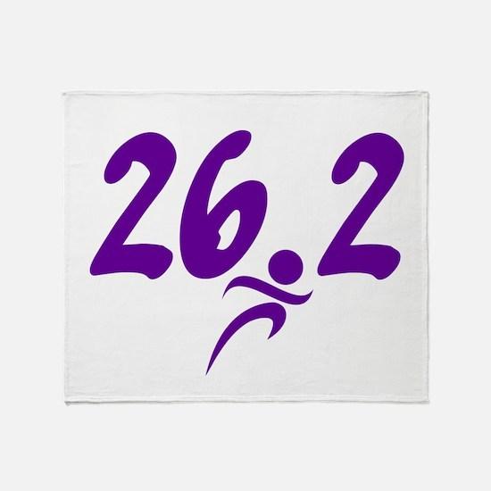 Purple 26.2 marathon Throw Blanket