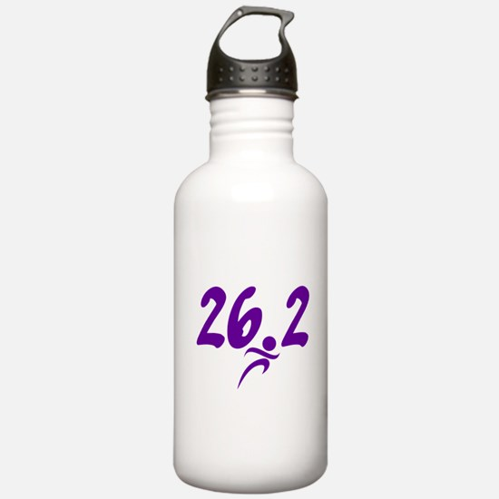 Purple 26.2 marathon Water Bottle