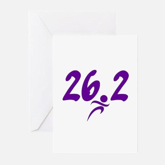 Purple 26.2 marathon Greeting Cards (Pk of 10)