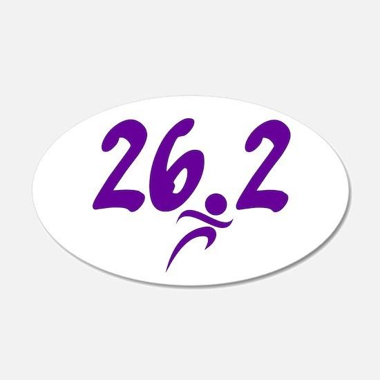 Purple 26.2 marathon Wall Sticker