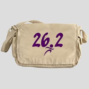 Purple 26.2 marathon Messenger Bag
