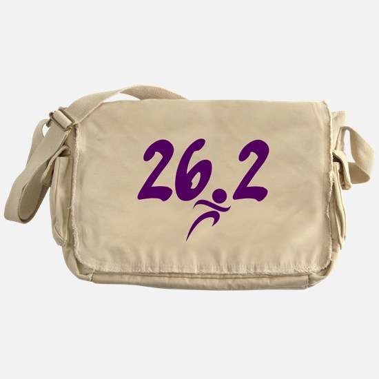Purple 26.2 marathon Messenger Bag