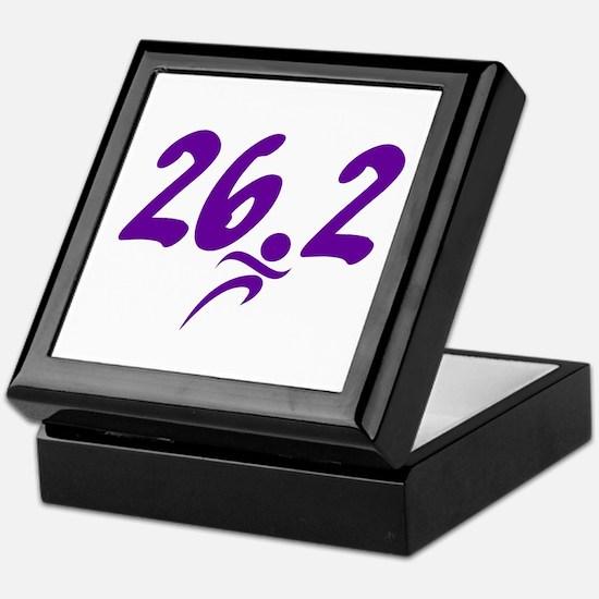 Purple 26.2 marathon Keepsake Box