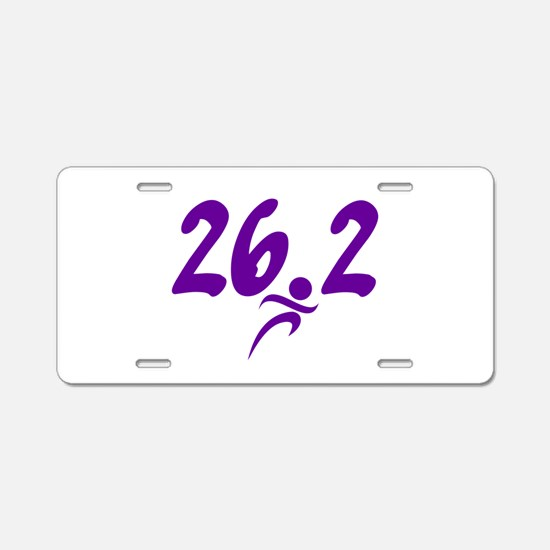 Purple 26.2 marathon Aluminum License Plate