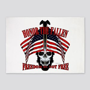 honor the fallen 5'x7'Area Rug