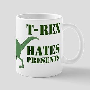 T-Rex hates presents Mug