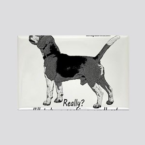beagle nosework nathan Rectangle Magnet