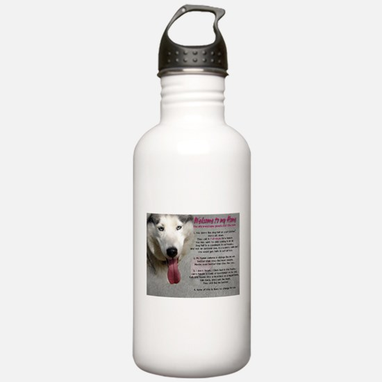 The Dog Lives Here. You Don't. Water Bottle