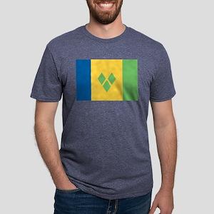 Saint Vincent - National Flag - Current Mens Tri-b