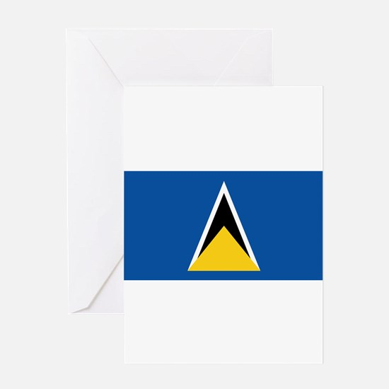 Saint Lucia - National Flag - 1979-2002 Greeting C