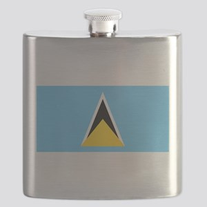 Saint Lucia - National Flag - Current Flask