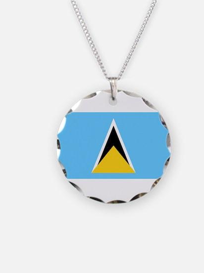 Saint Lucia - National Flag - Current Necklace