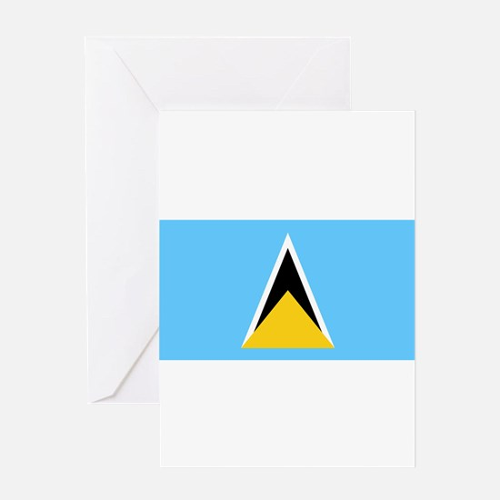 Saint Lucia - National Flag - Current Greeting Car