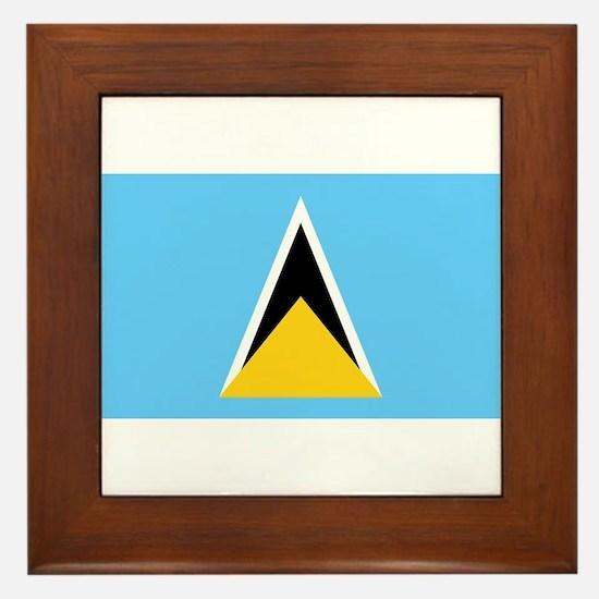 Saint Lucia - National Flag - Current Framed Tile
