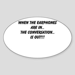 Earphones in, conversation out (beastmode) Sticker