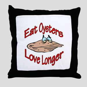 eatoysters Throw Pillow
