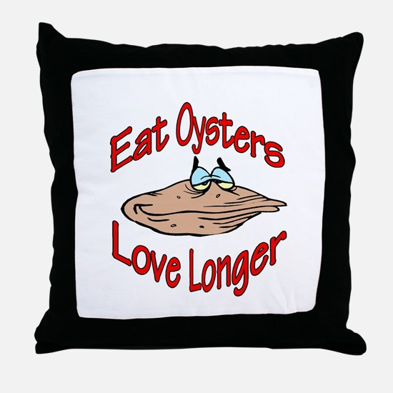 eatoysters.jpg Throw Pillow