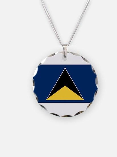 Saint Lucia - National Flag - 1967-1979 Necklace